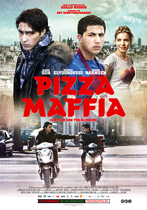 Pizza Maffia gefilmd in de Weimarstraat